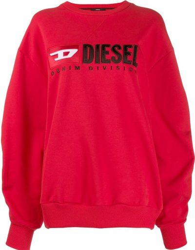 Red Contrast Logo Sweatshirt