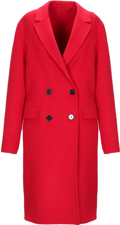 Red Double-Breasted Coat