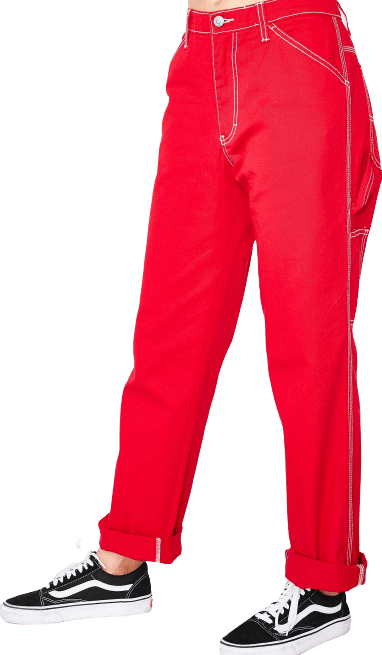 Red Flame Carpenter Pants