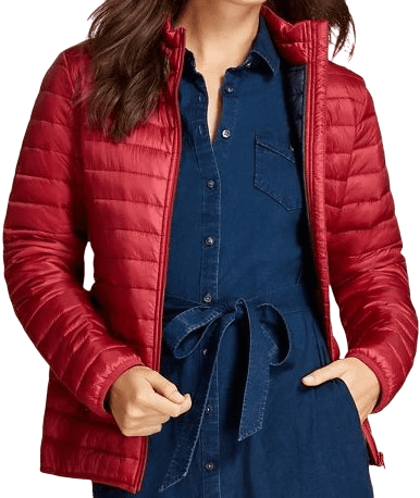 Red Puffer Jacket-Brooks Brothers