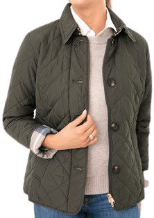 Sage Oatmeal Tartan Forth Quilted Jacket-Barbour