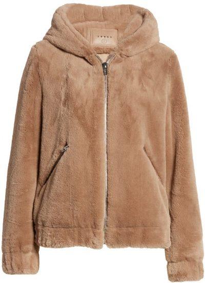 Sand Stoner Siren Teddy Faux Fur Coat