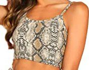 Snake Print Crop Cami Top-SOLY HUX