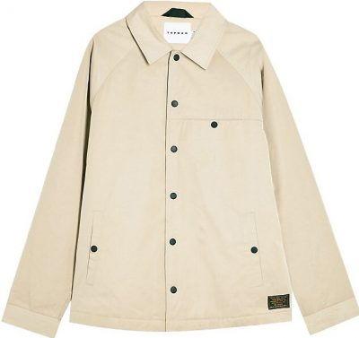 Stone Classic-Fit Coach Jacket