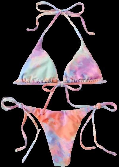Tie Dye Triangle Bikini-Shein