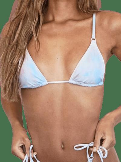 Tie-Dyed Avalon Triangle Bikini Top-LA Hearts by PacSun