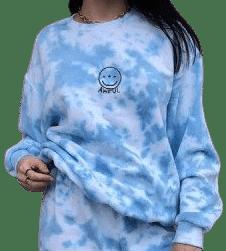 Topaz Tie-Dye Sweatshirt-EMERGEFUN