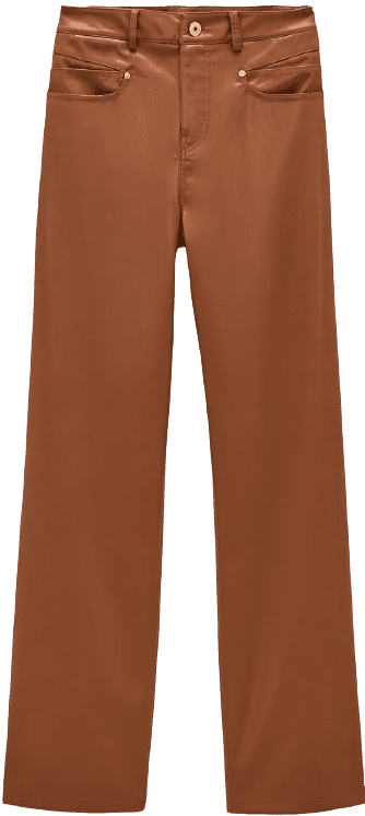 Whiskey Faux Leather Wide-Leg Pants