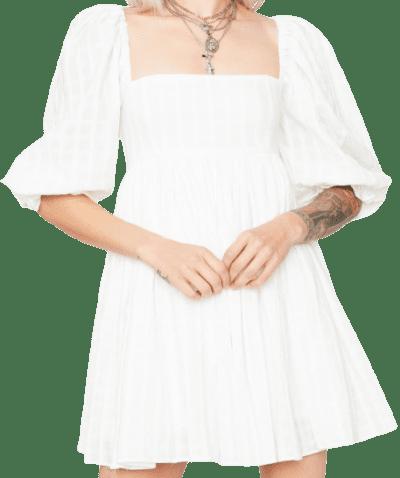White Boys Over Flowers Mini Dress-Dolls Kill