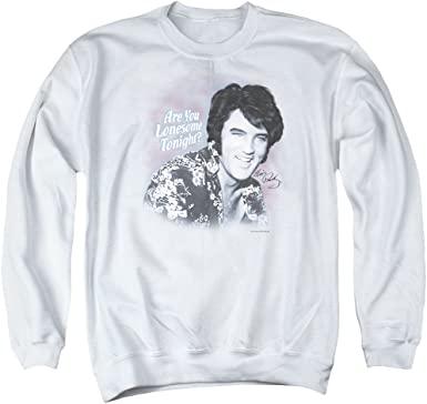 White Elvis Presley Sweatshirt-A&E Designs