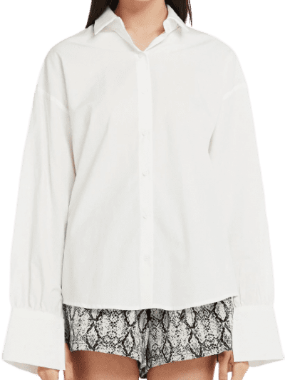 White Mia Slit Tie Back Shirt-Storets