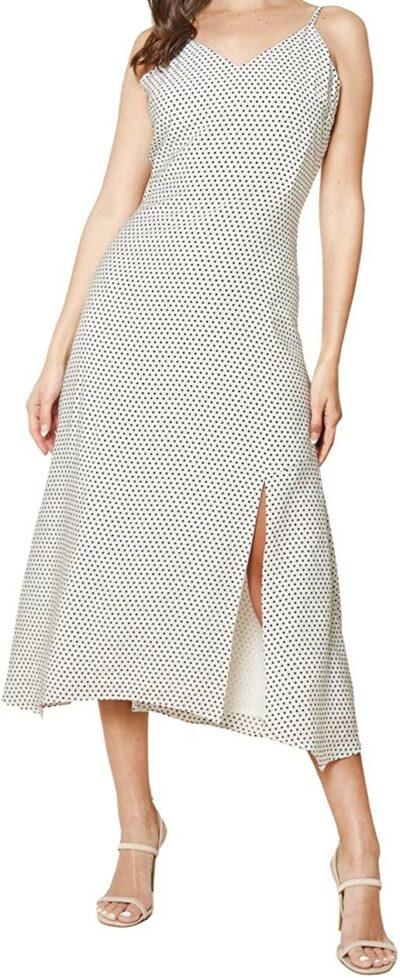 White My Everything Polka Dot Maxi Slip Dress-Sugar Lips