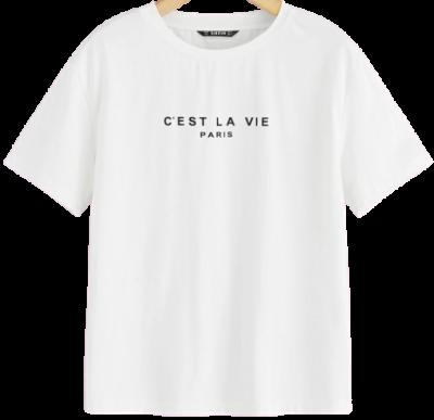 White Paris Graphic T-Shirt