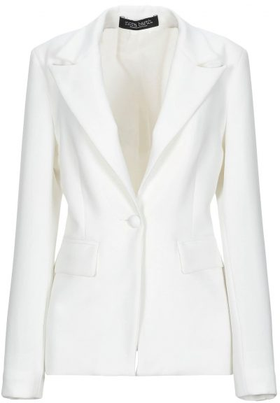 White Single-Breasted Blazer-Nora Barth