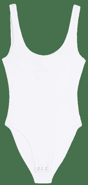 White Sleeveless Bodysuit