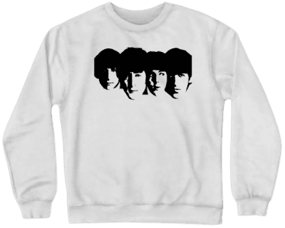 White The Beatles Crewneck Sweatshirt-Nevahart