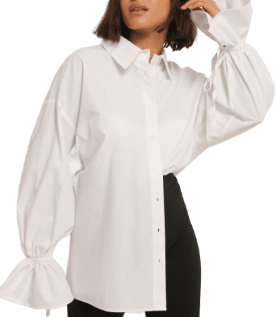 White Wide Sleeve Shirt