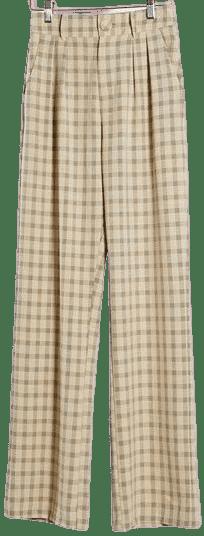 Wide Leg Check Suit Pants-4th & Reckless