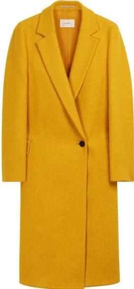 Yellow Alia Long Notch Lapel Coat