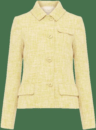 Yellow Demelza Tweed Jacket-Phase Eight