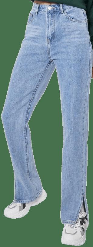 Acid Wash Blue Slit's Now Or Never Jeans