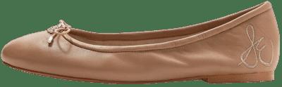 Beige Felicia Leather Ballet Flats-Sam Edelman
