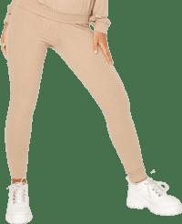 Beige Knitted Soft Leggings