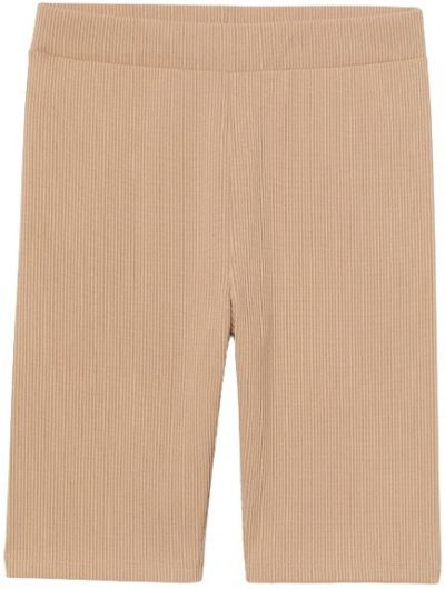 Beige Ribbed Cycling Shorts-H&M