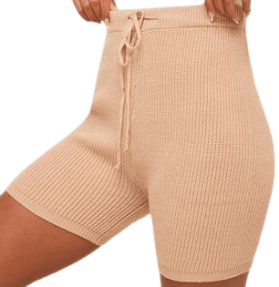 Beige The Micah Sweater Knit Biker Shorts-Thread + Seed