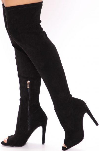 Black Baby You're Mine Boots-Fashion Nova
