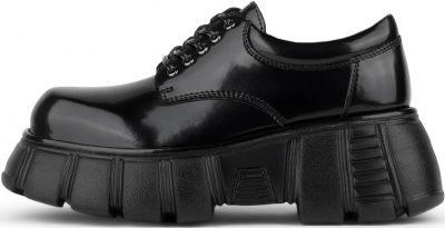 Black Barge Chunky Platform Oxford Shoes-Jeffrey Campbell
