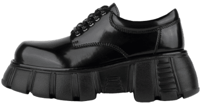 Black Barge Chunky Platform Oxfords