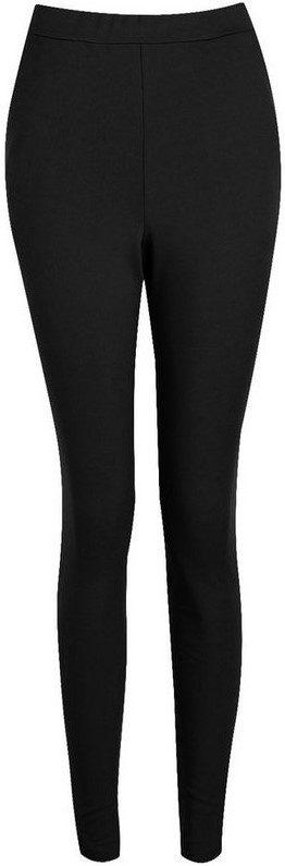 Black Basic Scuba Skinny Stretch Pants-Boohoo