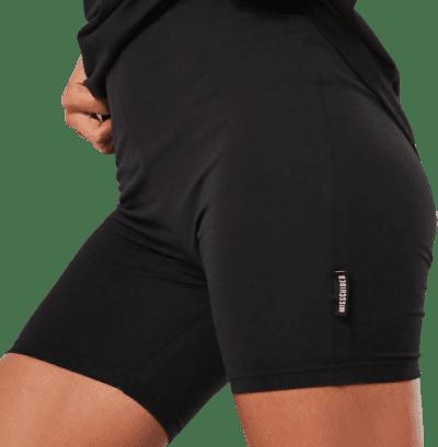 Black Branded Tag Cycling Shorts