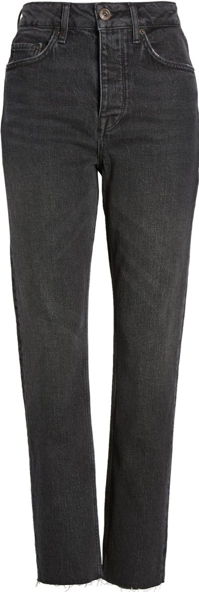 Black Dillon Ankle Straight-Leg Jeans
