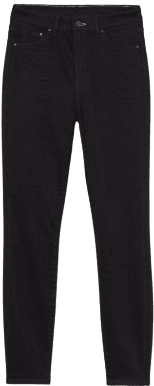 Black Embrace High Ankle Jeans