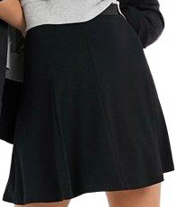 Black Flippy Mini Skirt-Asos Design