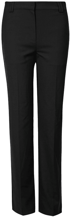 Black Freya Relaxed Straight Leg Trousers-Marks and Spencer