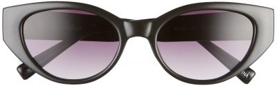 Black Gradient Cat Eye Sunglasses-Sam Edelman