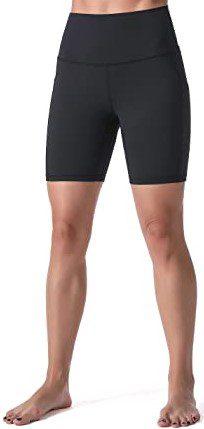 Black High Waisted Biker Shorts-Sunzel