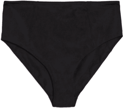 Black High Waisted Bikini Bottoms-Monki
