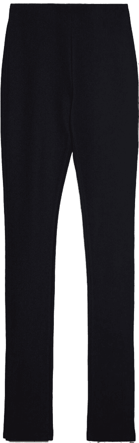 Black High-Waisted Ottoman Leggings