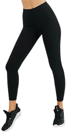 Black High Waisted Rib Legging-Asos 4505