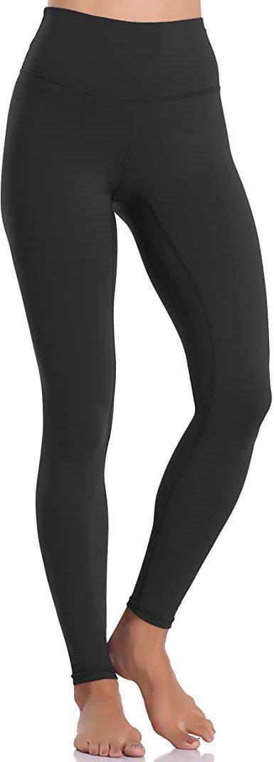 Black High Waisted Yoga Pants-Colorfulkoala