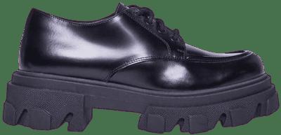 Black Leather Helga Platform