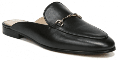 Black Leather Linnie Bit Mules