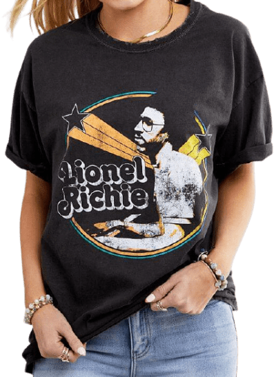 Black Lionel Richie Washed T-Shirt