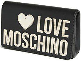 Black Love Moschino Logo Crossbody Bag-Moschino