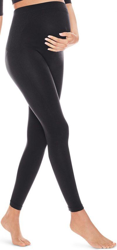 Black Maternity Opaque Leggings-Hanes