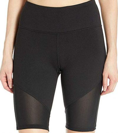 Black Mesh Insert Bike Shorts